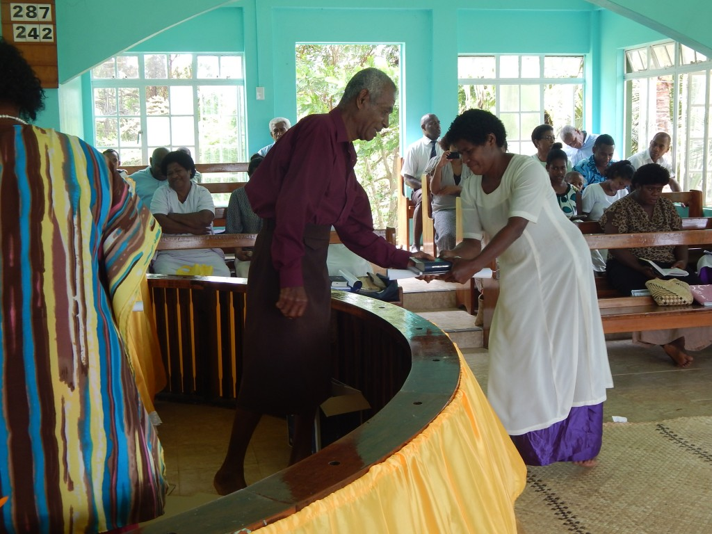 Distribution of Bibles and Materials in Maumi, Tailevu