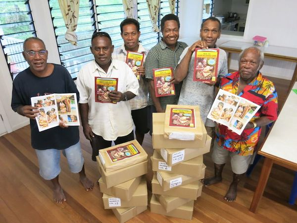 Some of the people who were involved in the translation of the Bible Comics.